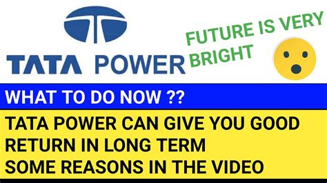 The core business of the company is to generate, transmit and distribute. TATA POWER SHARE ANALYSIS TATA POWER SHARE LATEST NEWS BEST POWER SECTOR STOCKS TO BUY NOW - YouTube