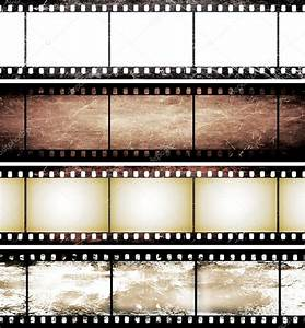 Isolated Vintage Film Frame Collection Stock Photo