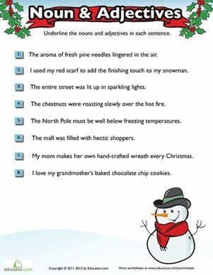 2nd grade grammar christmas grammar worksheet education