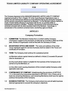 operating agreement llc sample free printable documents With free llc documents
