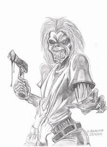 Eddie Iron Maiden Killers Drawing - EvertonianChris © 2016 ...