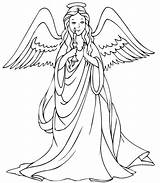 Christmas Angel Coloring Candle Pages Supercoloring Angels Printable sketch template