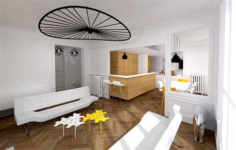 amenagement cuisine ouverte avec salle a manger cuisine moderne ouverte sur salon