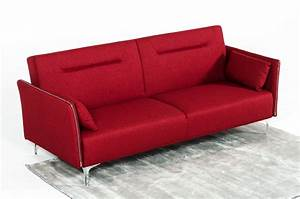 divani casa davenport modern red fabric sofa bed With red modern sofa bed