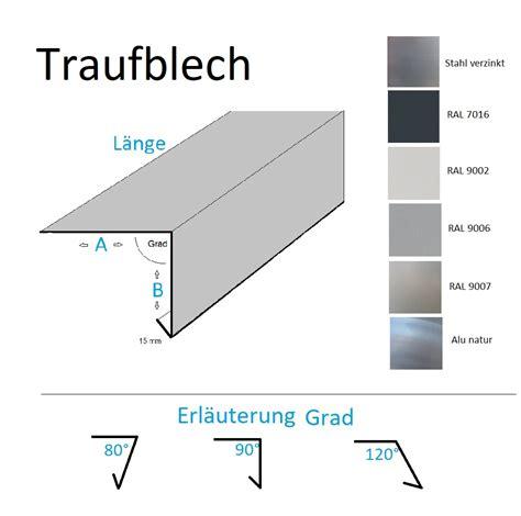 gartenmöbel stahl oder aluminium profile metall de traufblech aus stahl verzinkt oder