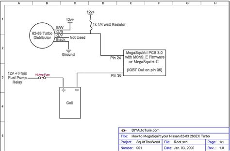 3 Wire Distributor Wiring Diagram by How To Megasquirt Your Nissan 280zx Turbo Diyautotune
