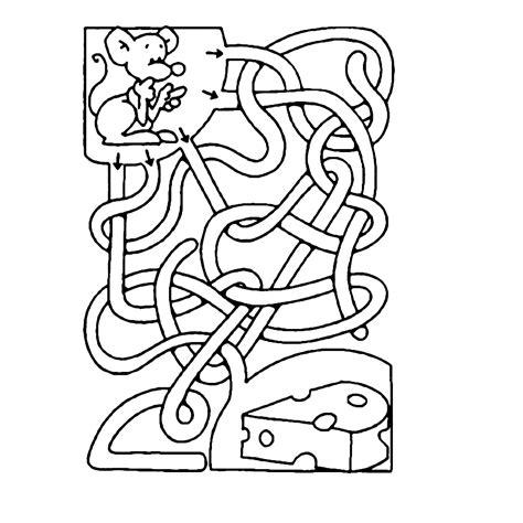 Doolhof Spelletjes Kleurplaat by Leuk Voor Help De Muis Op Weg Naar De Kaas