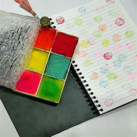 homemade stamp pad   acrylic paints glycerine