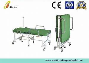 Powder Coated Steel Medical Foldable Hospital Bed With