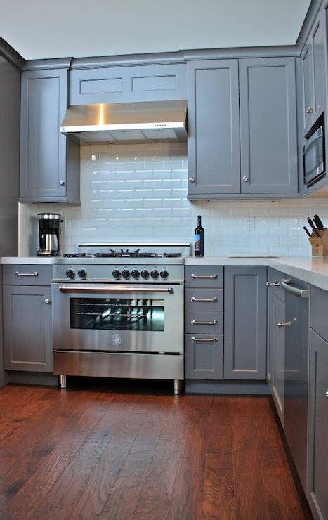 gray cabinets transitional kitchen william adams design