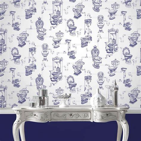 wallpaper toilet heaven white sapphire blue wallpaper