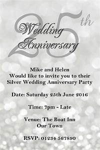 anniversary invitations 25th silver wedding anniversary With free printable silver wedding anniversary invitations