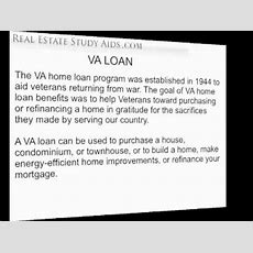 Fha & Va  Real Estate Exam Youtube