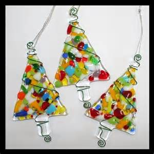 news from the purple pomegranate fused glass christmas ornaments