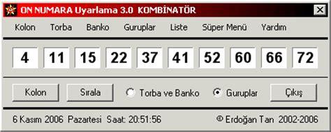 kaos the 2 on numara uyarlama 2 0 kuantum 10 80 lotto combination