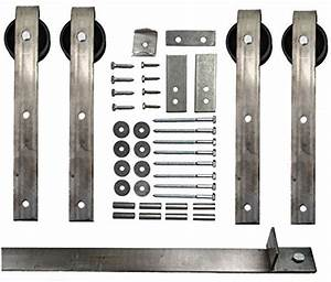 double sliding barn door hardware kit with 10 ft track With barn door hardware made in usa