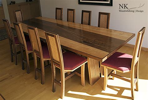 Custom Dining Room Set By Nk Woodworking — Nk Woodworking