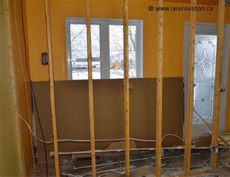 renover mur en interieur enlever un mur int 233 rieur