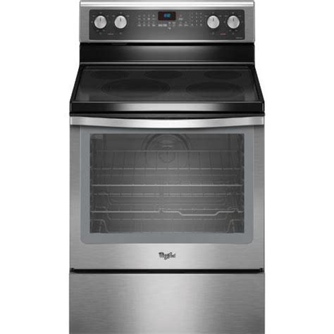 """Whirlpool WFE710H0AS 30"""" Electric Smooth Top Range, 6.2"""