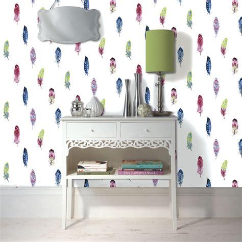 feather wallpaper departments diy  bq