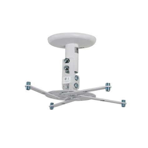 Suspended Ceiling Projector Mount Uk by B Tech Projector Ceiling Mount 190mm Drop White Tradeworks