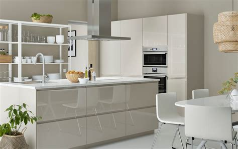 Ikea Küche Voxtorp Beige by Modern Ikea Kitchen Ideas With Light Beige Doors Drawers