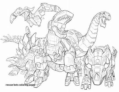 Coloring Rescue Pages Dinobots Bots Transformers Printable