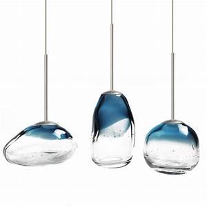 Modern mini blown glass art led pendant lighting