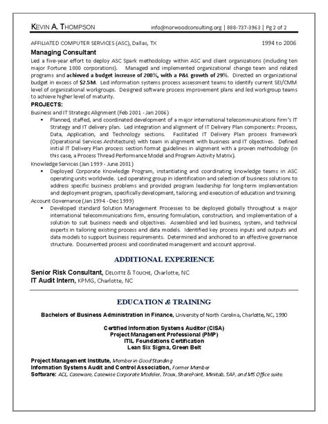 Enterprise Architect Resume Exles by It Resume Engineering Sle Resume Business Architect