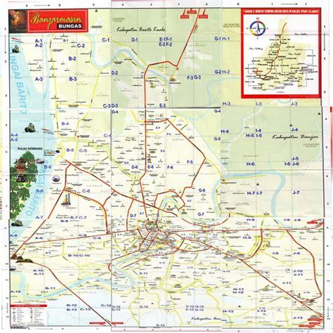 peta kota banjarmasin peta kota indonesia