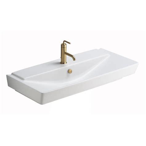 Kohler Reve Wall Hung Sink by Shop Kohler Reve Honed White Clay Wall Mount