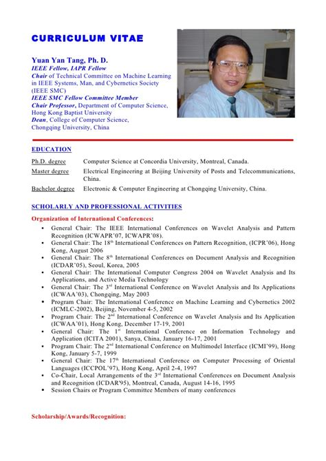 Cv Example English Doc