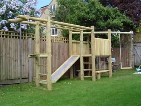 wooden climb  frame childrens play area garden