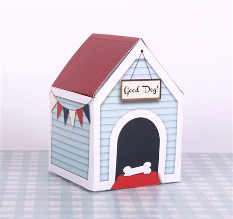 puppy party favor printable dog house gift box dog birthday