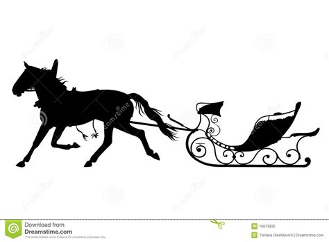 Horse With Drawn Sled Royalty Free Stock Photo - Image ...