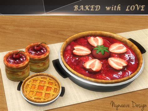 sims 3 cuisine nynaevedesign 39 s baked with decor food