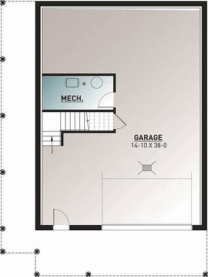 Plan Plans Basement Cottage Floor Country Vacation