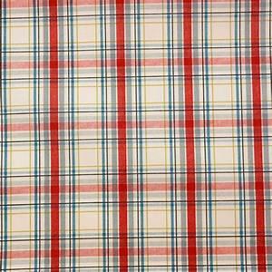 Country Check Fabric - Linen (5902/031) - Prestigious