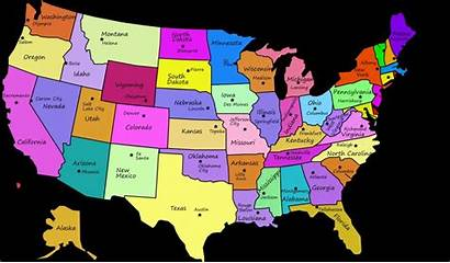 States Map United Capital State Capitals Usa