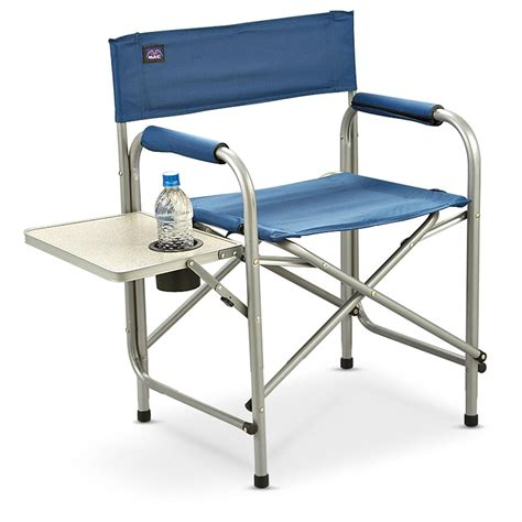 chair with side table mac sports director 39 s chair with side table 172780
