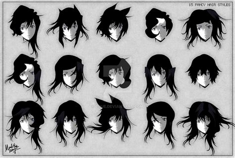 fancy anime hair styles  zuue  deviantart