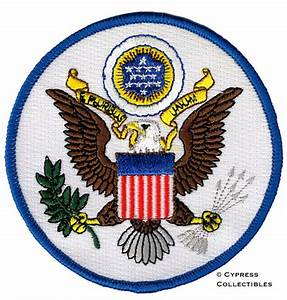 GREAT SEAL OF UNITED STATES iron-on PATCH embroidered ...