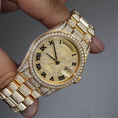 Rolex Date President Bezel Diamond Fancy 36mm
