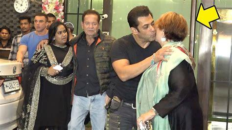 salman khan shows love respect  mom helen  front