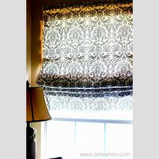 Simple No Sew Roman Shades Pinkwhen
