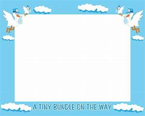 Baby clipart frame - Pencil and in color baby clipart frame