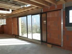 Prix Porte Galandage : porte fenetre a galandage prix baie vitr e double vitrage ~ Premium-room.com Idées de Décoration