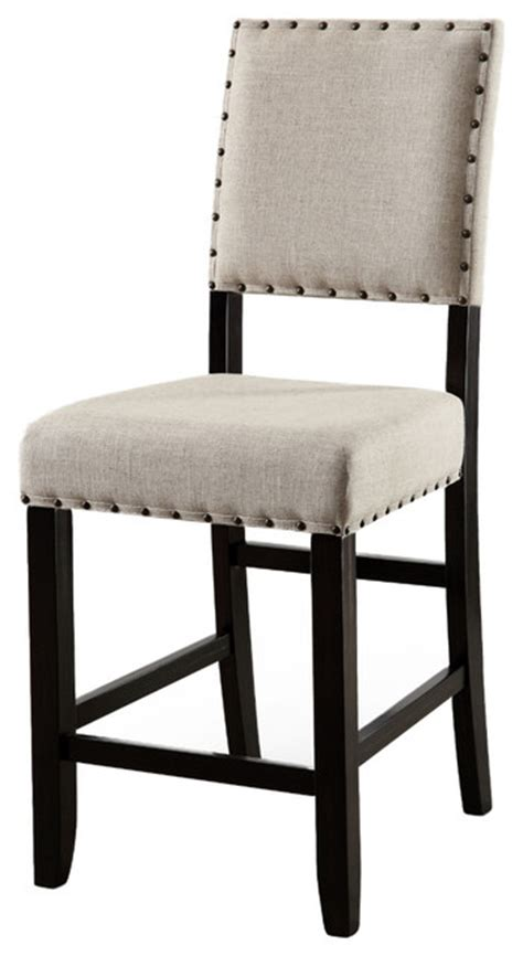 kerrin rustic nailhead trim counter height dining chairs