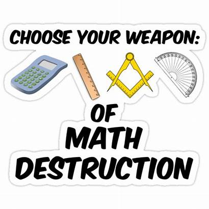 Math Destruction Choose Weapon Sticker Stickers Redbubble