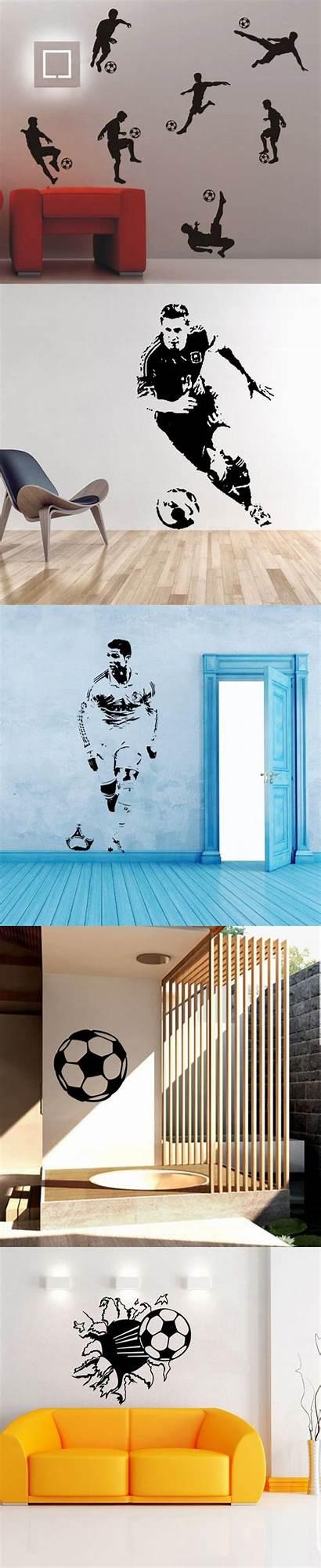 Soccer Salvat Pe Mural Football Decor Wall